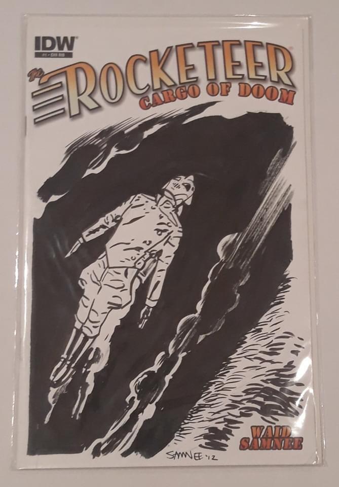 Rocketeer: Cargo of Doom #1 - Original Art Sketch - Stapled - First edition
