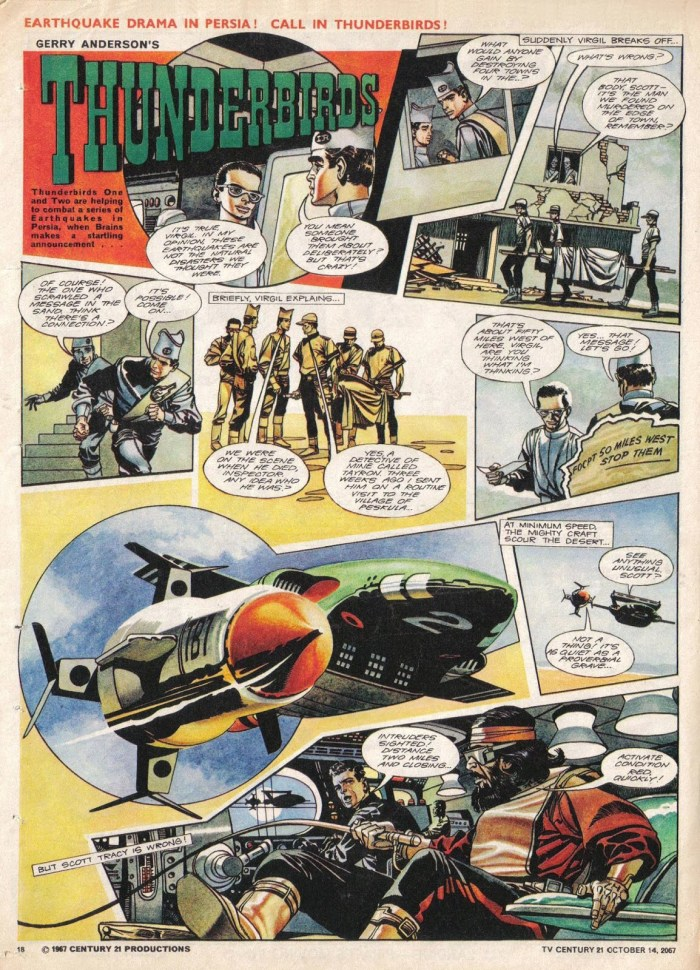 "TV21 No 143 - ""Thunderbirds - The Earthquake Maker"" Page 1"