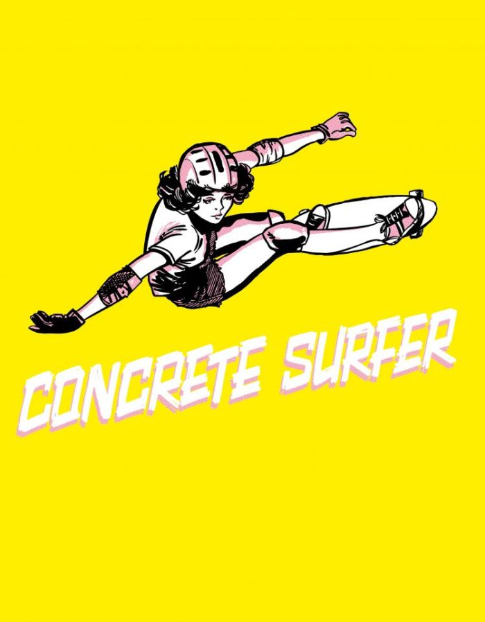 "Concrete Surfer"" limited edition hardcover - Cover"