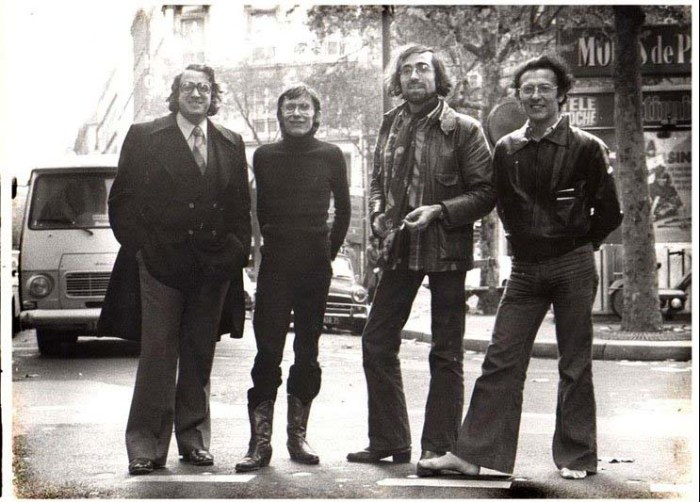 Left to right: Metal Hurlant's Bernard Farkas, Jean-Pierre Dionnet and artists Phillipe Druillet and Moebius