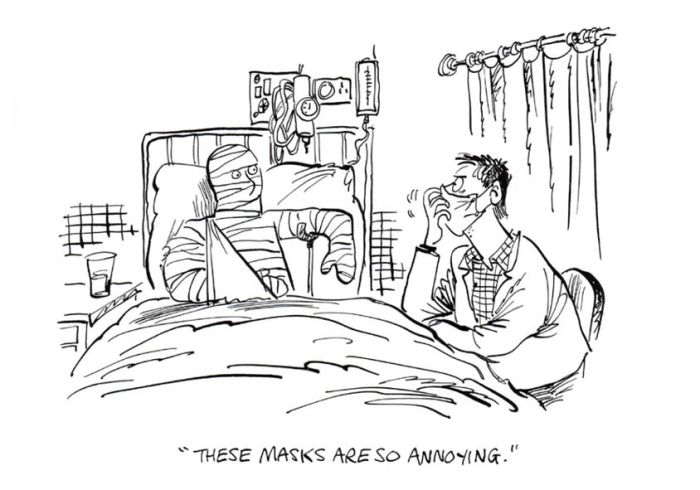 Lockdown Cartoon by Sunil Agarwal and Ian Baker - Masks