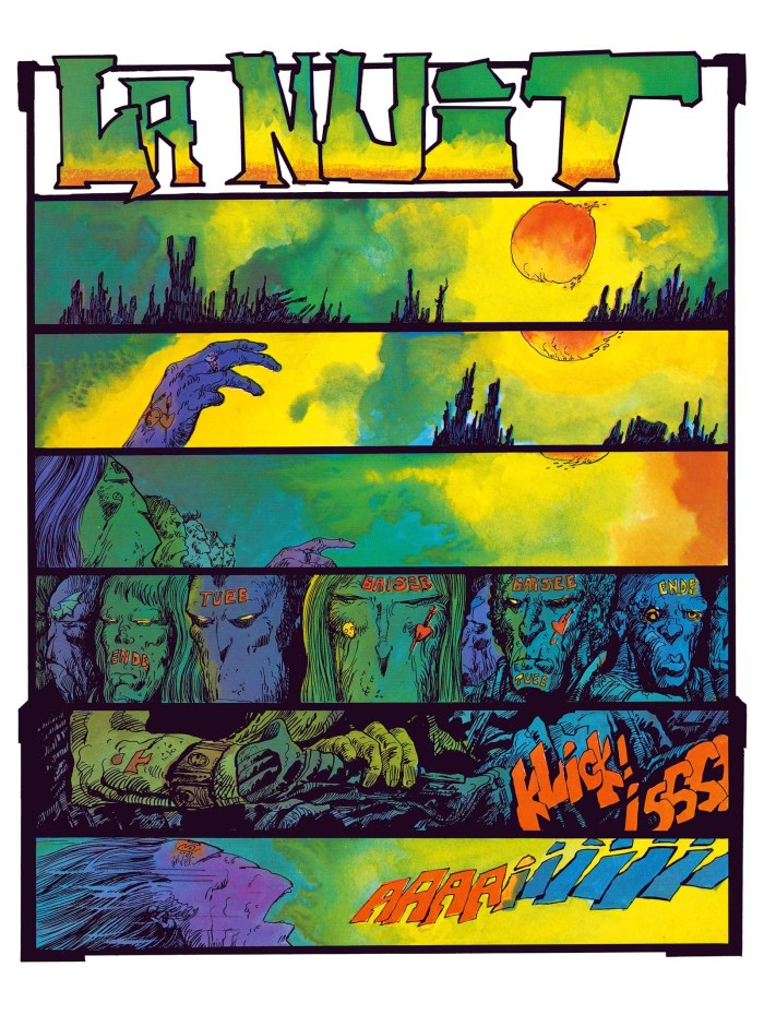 The Night by Philippe Druillet - Sample Art