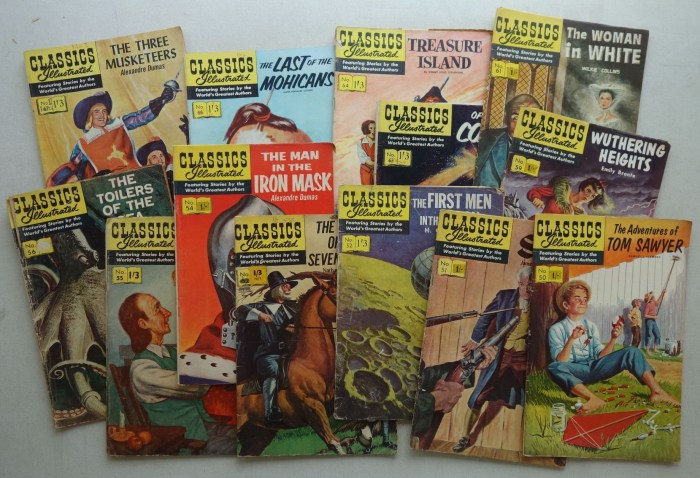 Various issues of Classics Illustrated