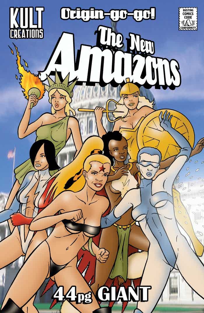 The New Amazons: Origin A-Go-Go - Kickstarter Exclusive Variant Cover