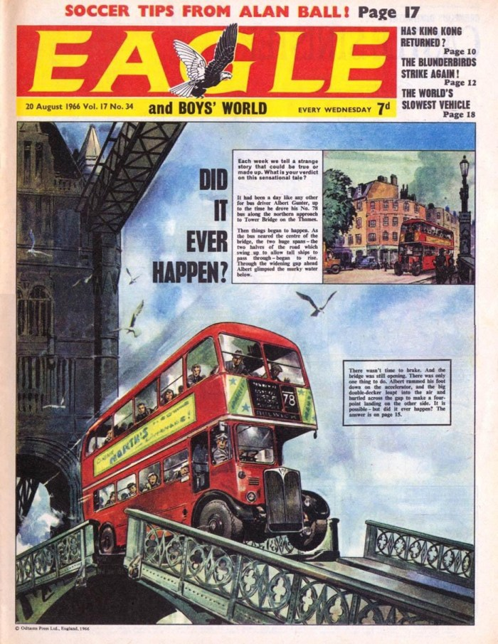 Eagle - cover dated 20th August 1966 (with thanks to Steve Winders)