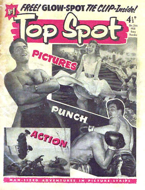 The cover of the first issue of Top Spot, courtesy of Lew Stringer