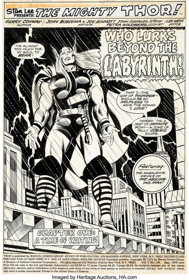 The Mighty Thor #235 - Splash Page