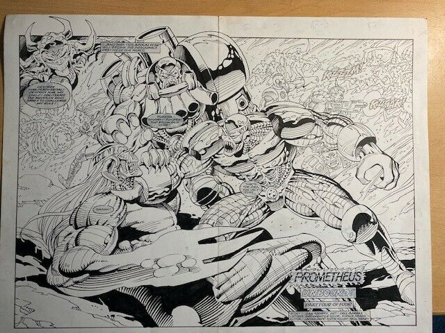 Original art by Dell Barras for Death 3 #4, sold on eBay in 2020. Born in Manila, The Philippines, Dell Barras started his career in comics in the 1970s, publishing titles such as Ang Taong Isda, Samsona and Mariela Morena. In 1984, he began working for American publishers DC Comics and Marvel, working on comics such as Green Arrow, Batman, Superman, Blue Beetle, The Incredible Hulk and Conan the Barbarian. It was Paul Neary who initiated his work at Marvel UK