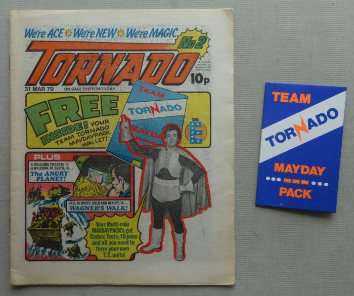 Tornado Issue 2 - cover dated 31st March 1979, with free gift