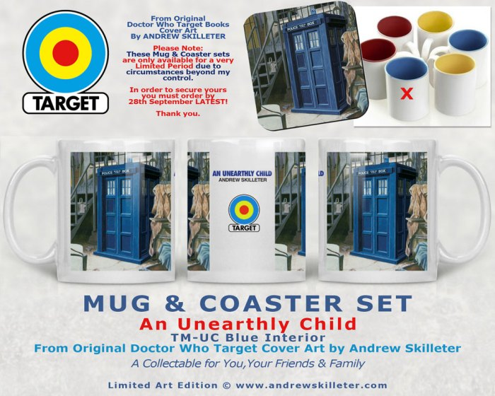 Doctor Who Target Books Retro Mug and Coasters - The Unearthly Child by Andrew Skilleter