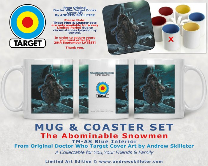 Doctor Who Target Books Retro Mug and Coasters - The Abominable Snowmen by Andrew Skilleter