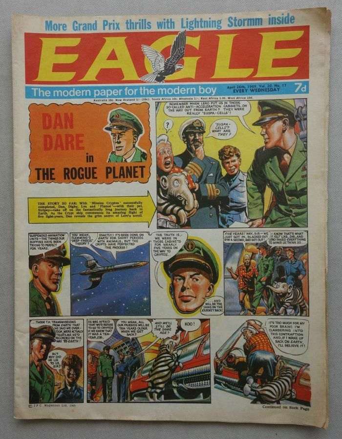The final issue of the original Eagle, before it merged with Lion, cover dated 26th April 1969