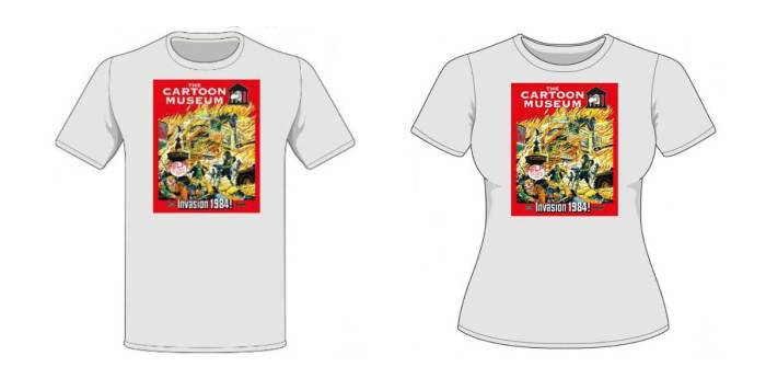 """Special Treasury of British Comics """"Invasion: 1984"""" T-Shirt launched to support the Cartoon Museum"""