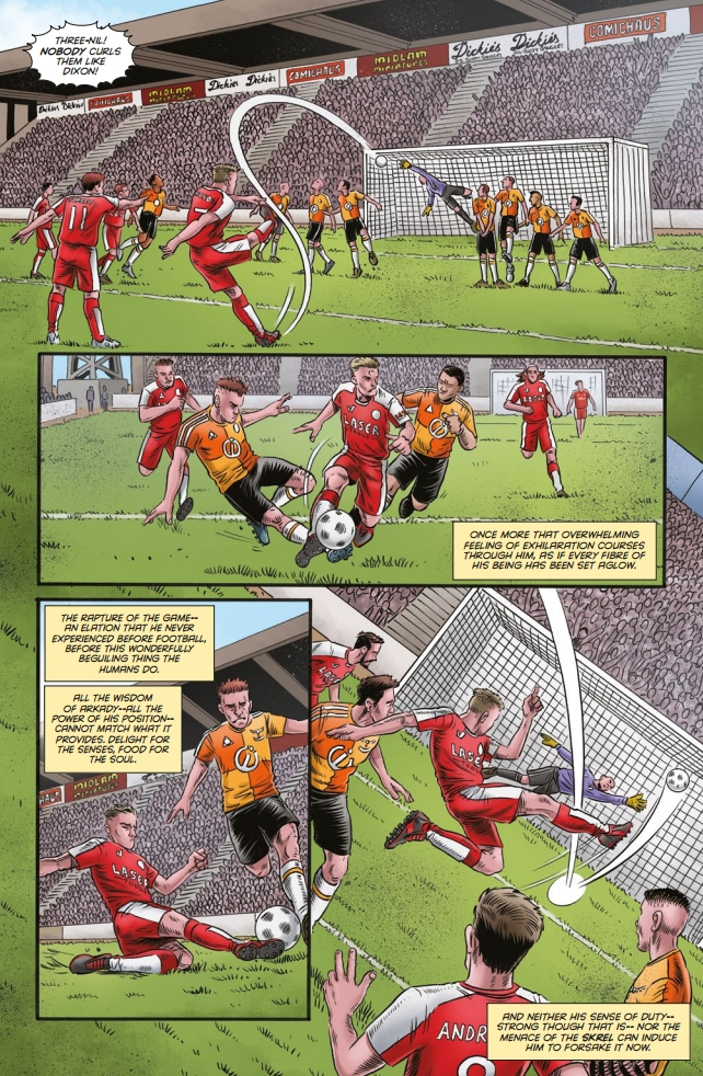 Football action from Dan Cornwell worth of any of the classic weekly sports-driven comics of yesteryear