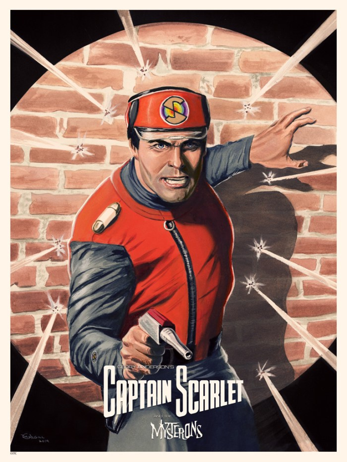 Captain Scarlet By Dan Orgill - Art Print