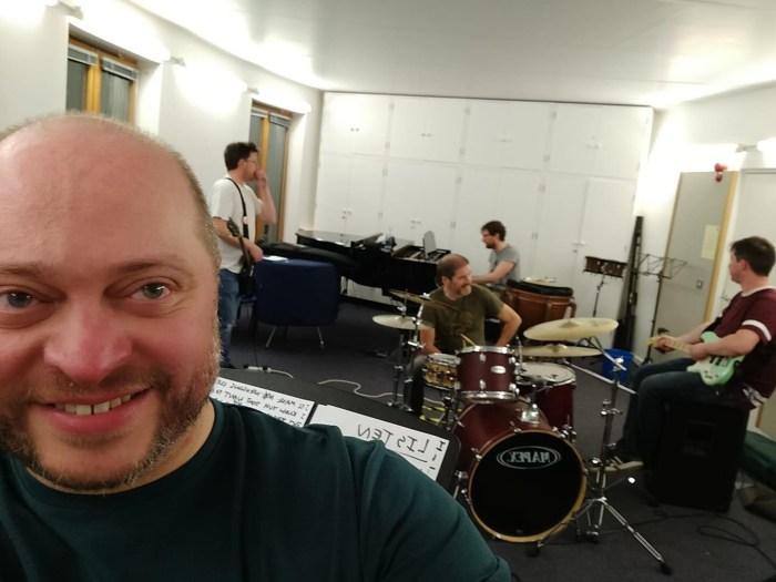 The Cosmic Rays rehearsing back in February. Photo: Shane Chebsey