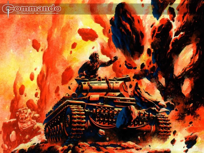Art used for the cover of the Commando Rocks CD