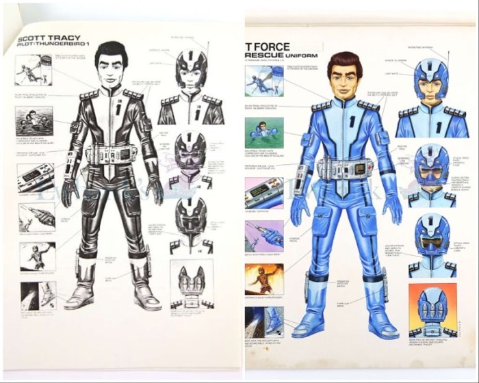 """Gerry Anderson """"T-Force"""" designs, artist unknown. With thanks to Richard Sheaf"""