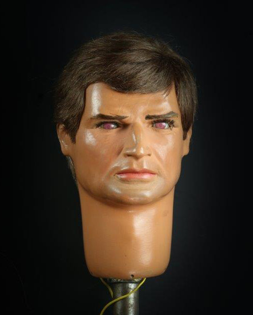 Captain Ochre puppet head used on screen in the classic 1967 series Captain Scarlet and the Mysterons