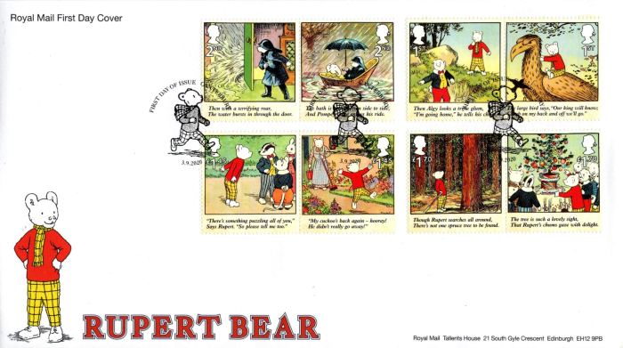 Rupert the Bear Special Issue Stamps 2020 - First Day Cover