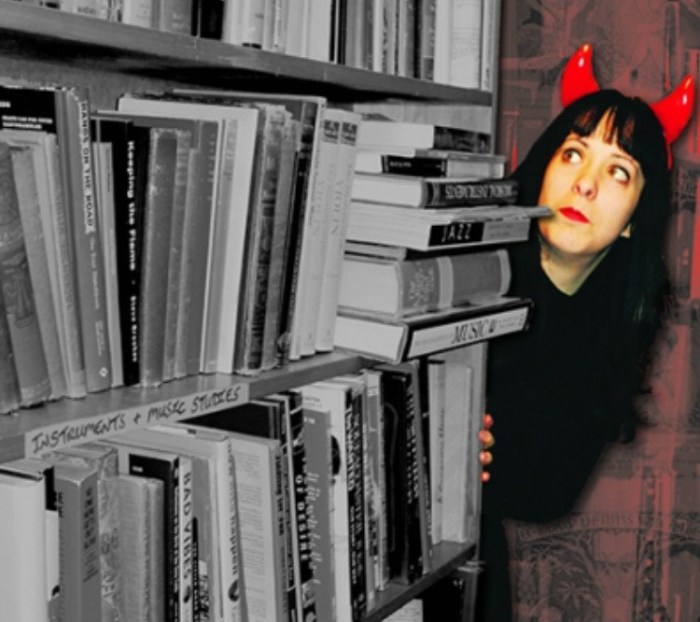 Anna Savoury and her collection of cursed books