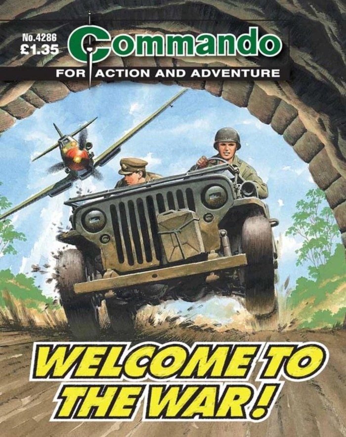 The album featured art first used on the cover of Commando 4286, first published in 1992