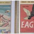 "Spot the Difference: left, the promotional issue, with a different cover date and sans ""Pilot of the Future"" caption; right, Eagle Issue One, as published"