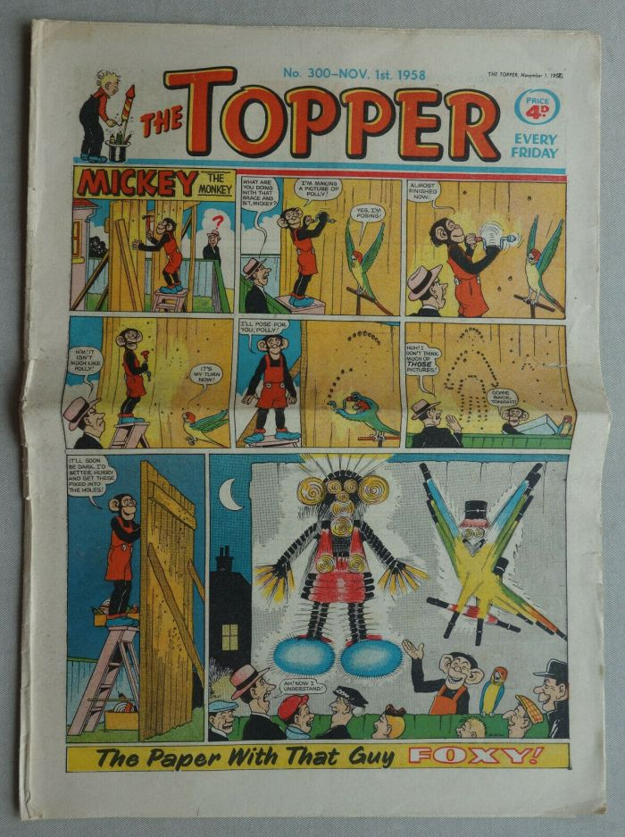 Topper No. 300 - Fireworks Issue, cover dated 11th November 1958