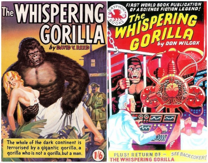 The Whispering Gorilla - Original and 1999 editions, later cover by Ron Turner