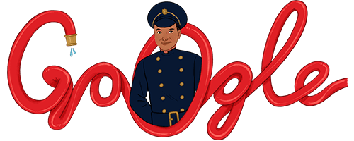 Google Doodle - 26th November 2020 - Firefighter Frank Bailey - art by Nicole Miles