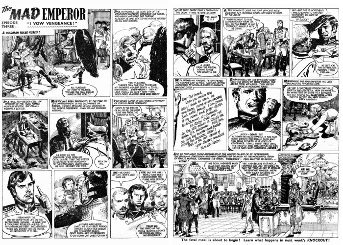 """""""The Mad Emperor"""" for Knockout, published in 1960"""