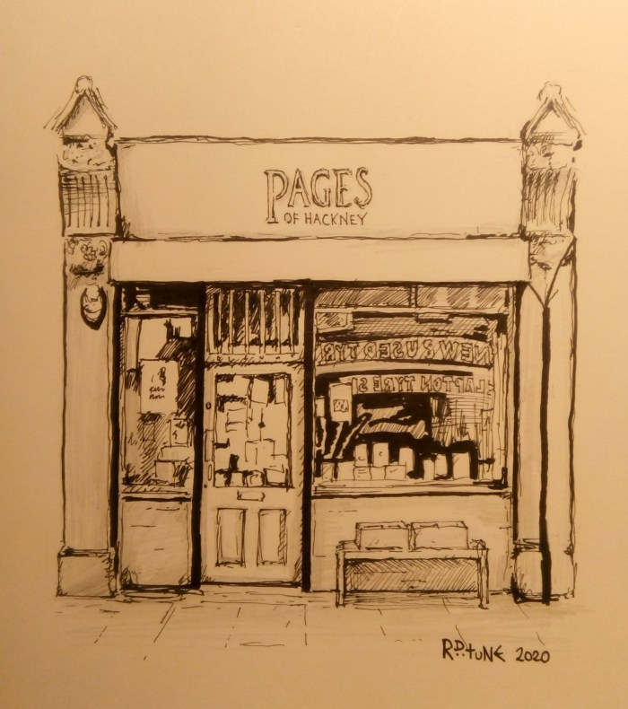 #DrawYourBookshop Pages of Hackney by Adiós Lodge