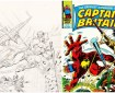 Captain Britain #29 Cover - Unpublished and Published side by side