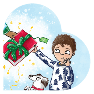 BookTrust Christmas Appeal 2020 - art by Hannah Shaw