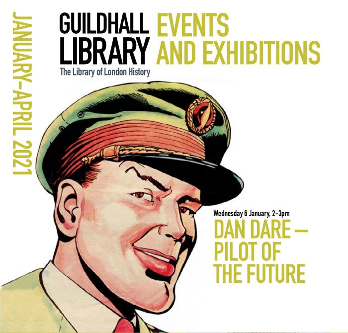 Dan Dare - Guildhall Library January 2021 Event Promotion