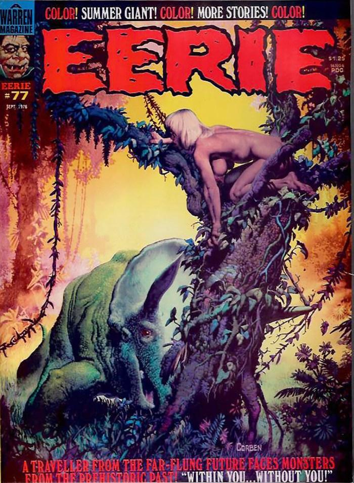 Eerie #77 - cover by Richard Corben
