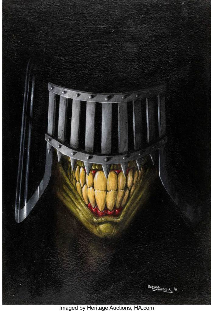 Pete Doherty Judge Dredd the Magazine #12 cover, featuring Judge Death