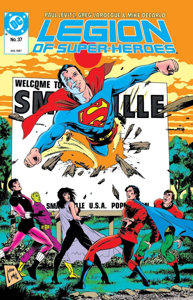 Legion of Super-Heroes Volume 3 #37 - cover by Steve Lightle