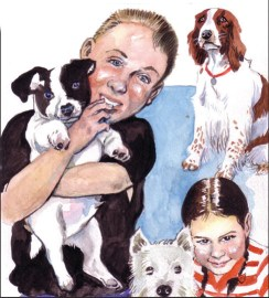 Pet caricature by Frank McDiarmid