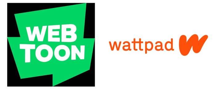 WEBTOON and WattPad Logo