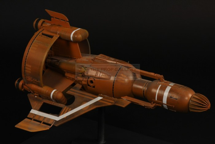 "Captain Zep's ""Zep One"", a prop originally designed for a Dan Dare project by Bill Pearson. Image: The Prop Gallery"