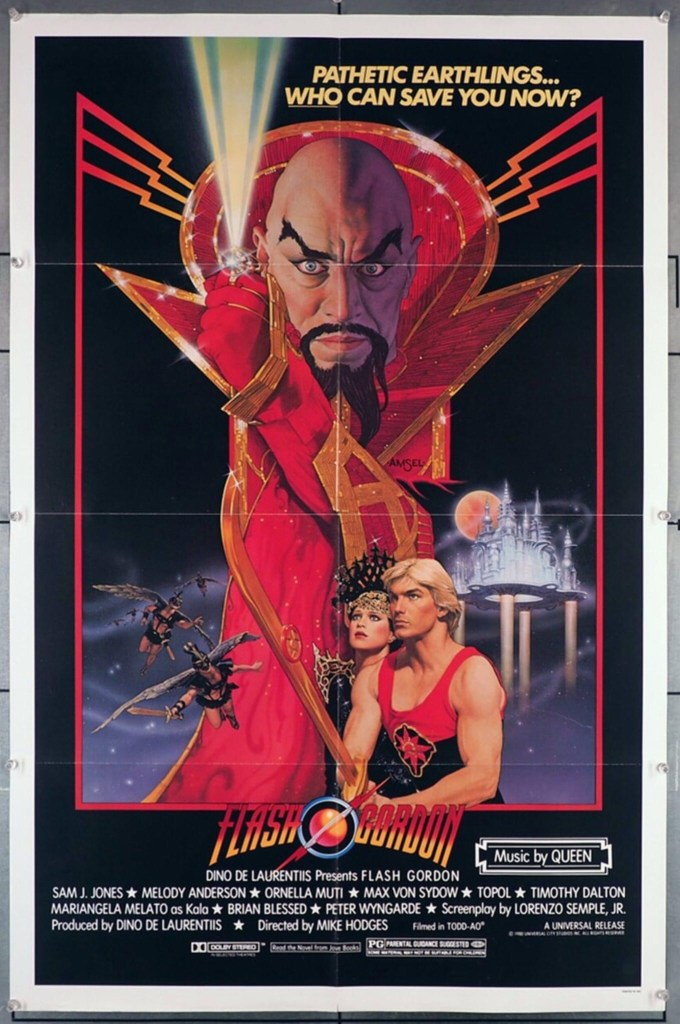 Flash Gordon (1980) Poster - design by Richard Amsel