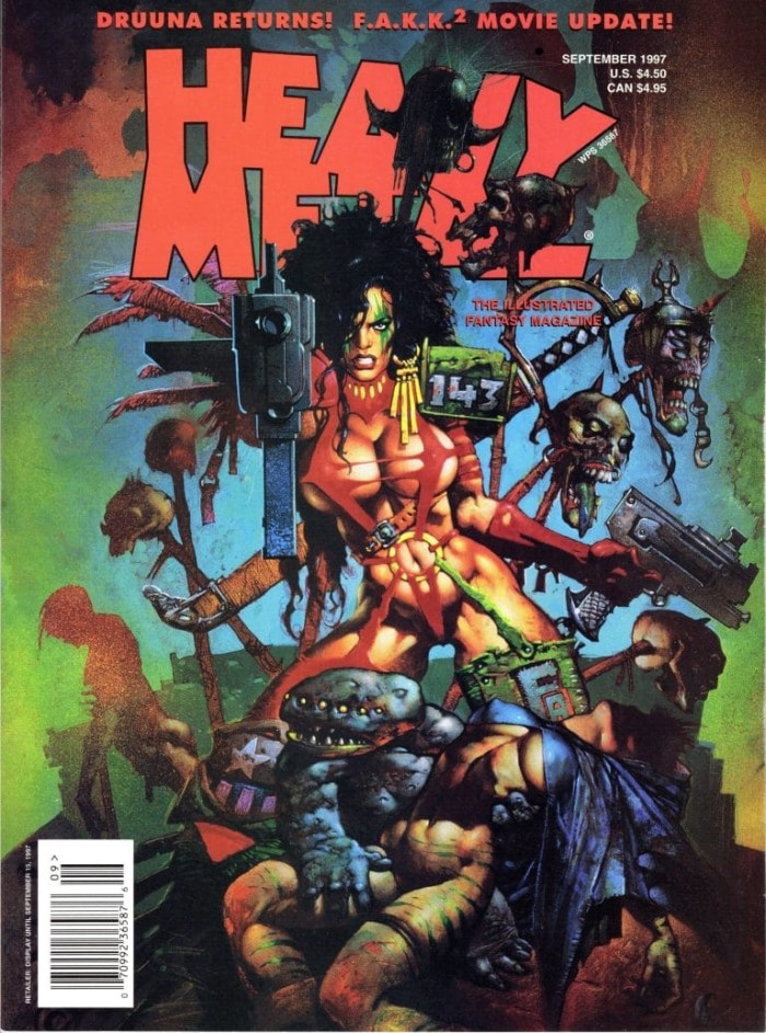 Heavy Metal - September 1997 - cover by Simon Bisley