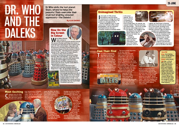 Doctor Who Chronicles 1 - Sample Spread