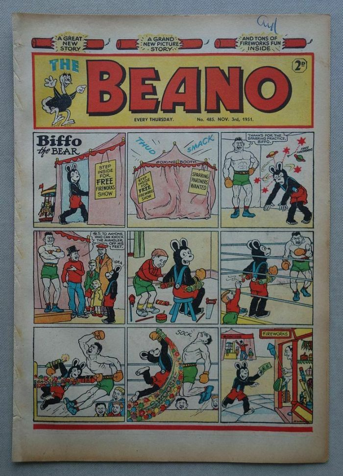 Beano 485 Fireworks Issue, cover dated 3rd November 1951