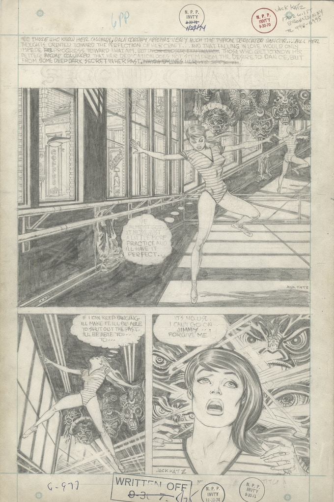 """The opening page of """"Second Chance"""" by Jack Katz, a six page romance story produced for DC in the 1960s"""