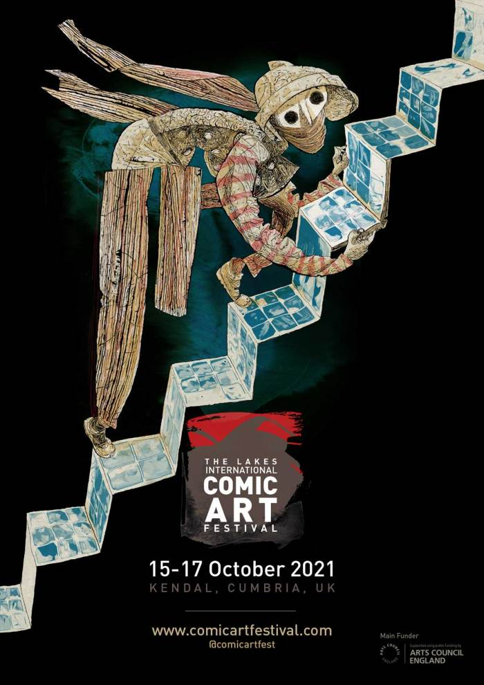 Lakes International Comic Art Festival  2021 Art by Dave McKean - Portrait