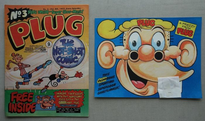 Plug No. 3, cover dated 8th October 1977, with free gift