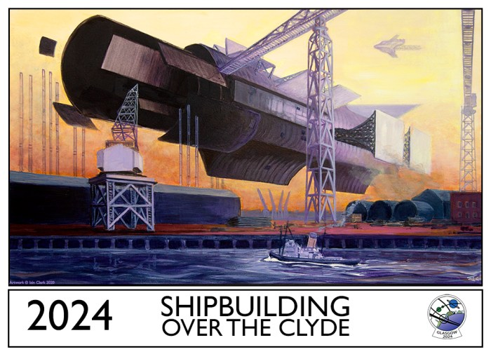 Iain Clarke, Shipbuilding Over the Clyde, Art for Glasgow in 2024 WorldCon bid
