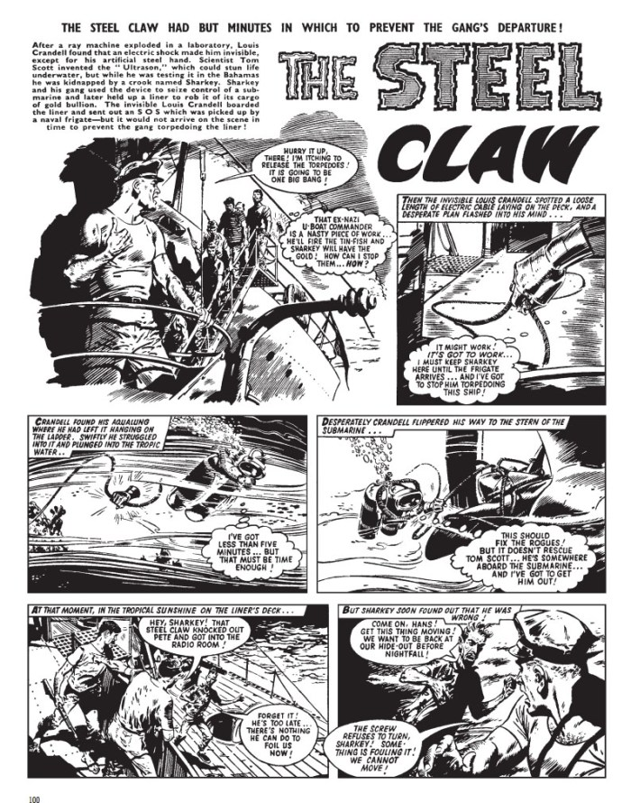 The Steel Claw Volume One - Sample Art